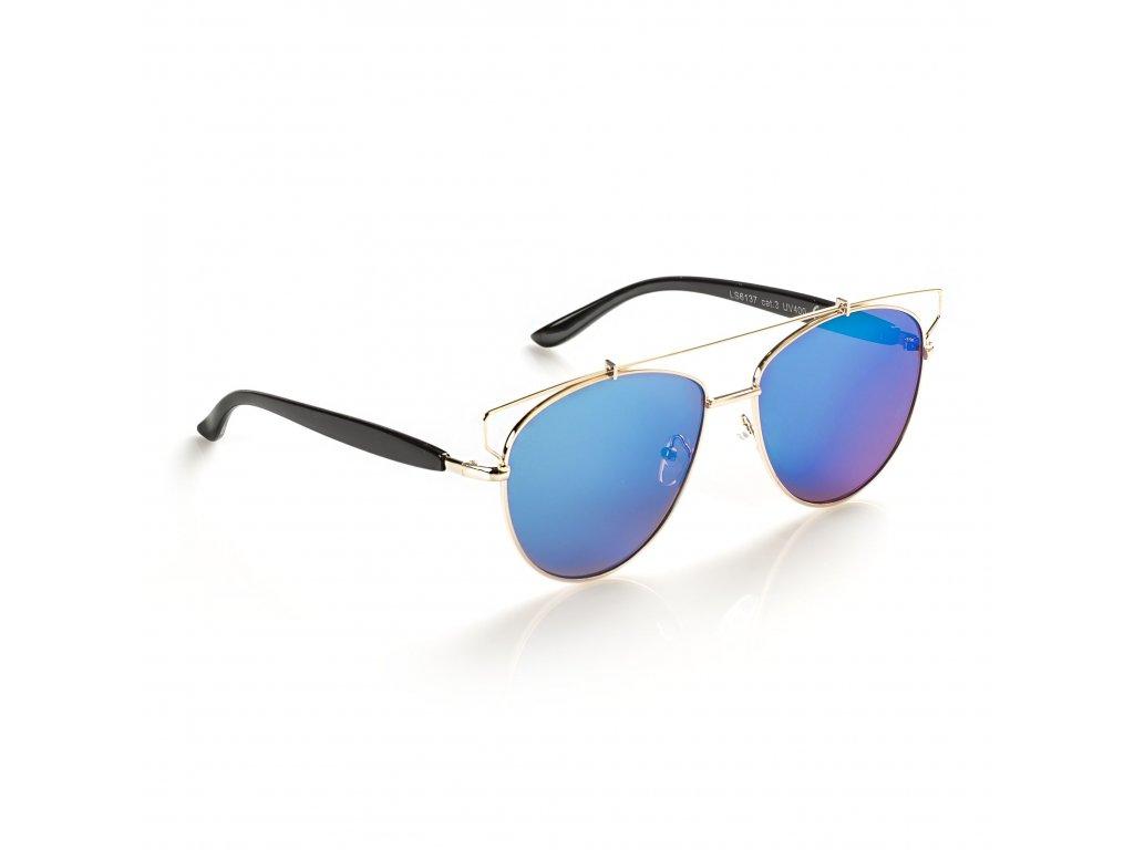 7a9a1ea02 Pilotky modré - zlaté obroučky - PECKASTYL.CZ