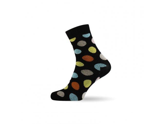 damske barevne ponozky dot black