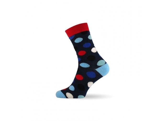 damske barevne ponozky dot blue