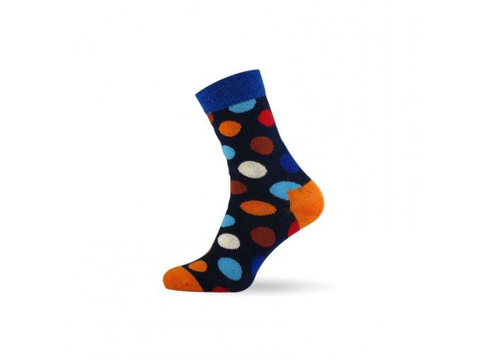 damske barevne ponozky dot orange