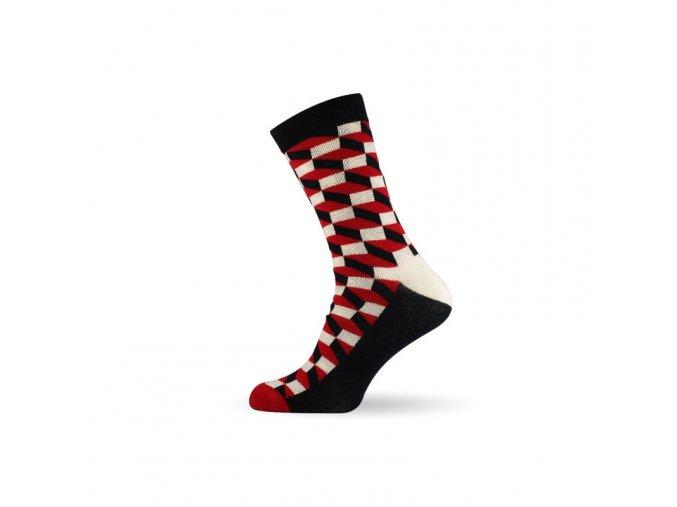panske barevne ponozky 3d red