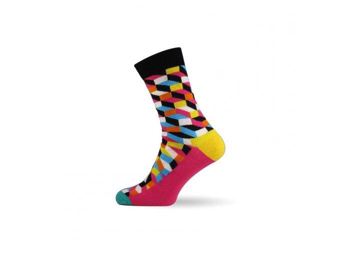 panske barevne ponozky 3d pink