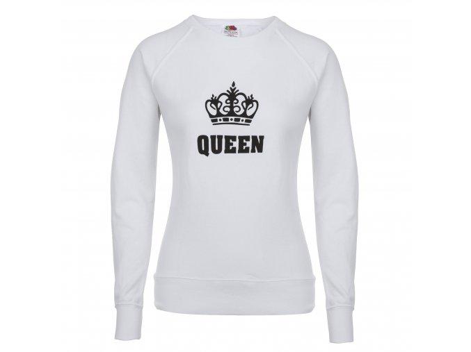 damska mikina queen 100 % bavlna bila