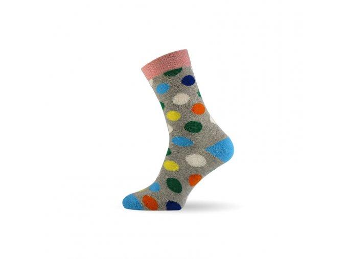 damske barevne ponozky dot grey