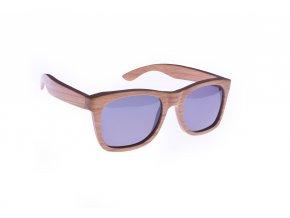 Bambusové sluneční brýle Wayfarer black - polarizační