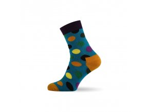 damske barevne ponozky dot light blue