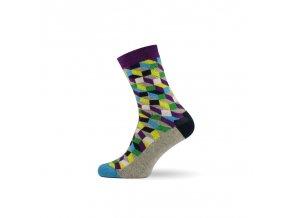 panske barevne ponozky 3d grey
