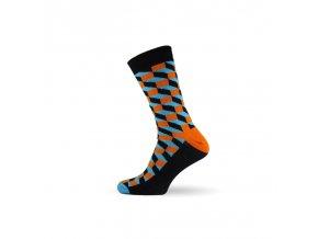 panske barevne ponozky 3d blue
