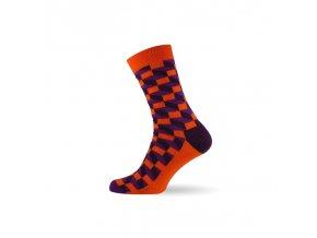 panske barevne ponozky 3d orange