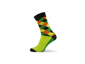 panske barevne ponozky criss cross green