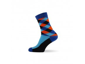 panske barevne ponozky criss cross blue