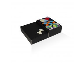 panske barevne ponozky darkova krabicka 3d a criss cross