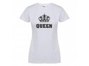 damske tricko queen 100 % bavlna bile