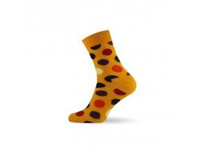 damske barevne ponozky dot yellow