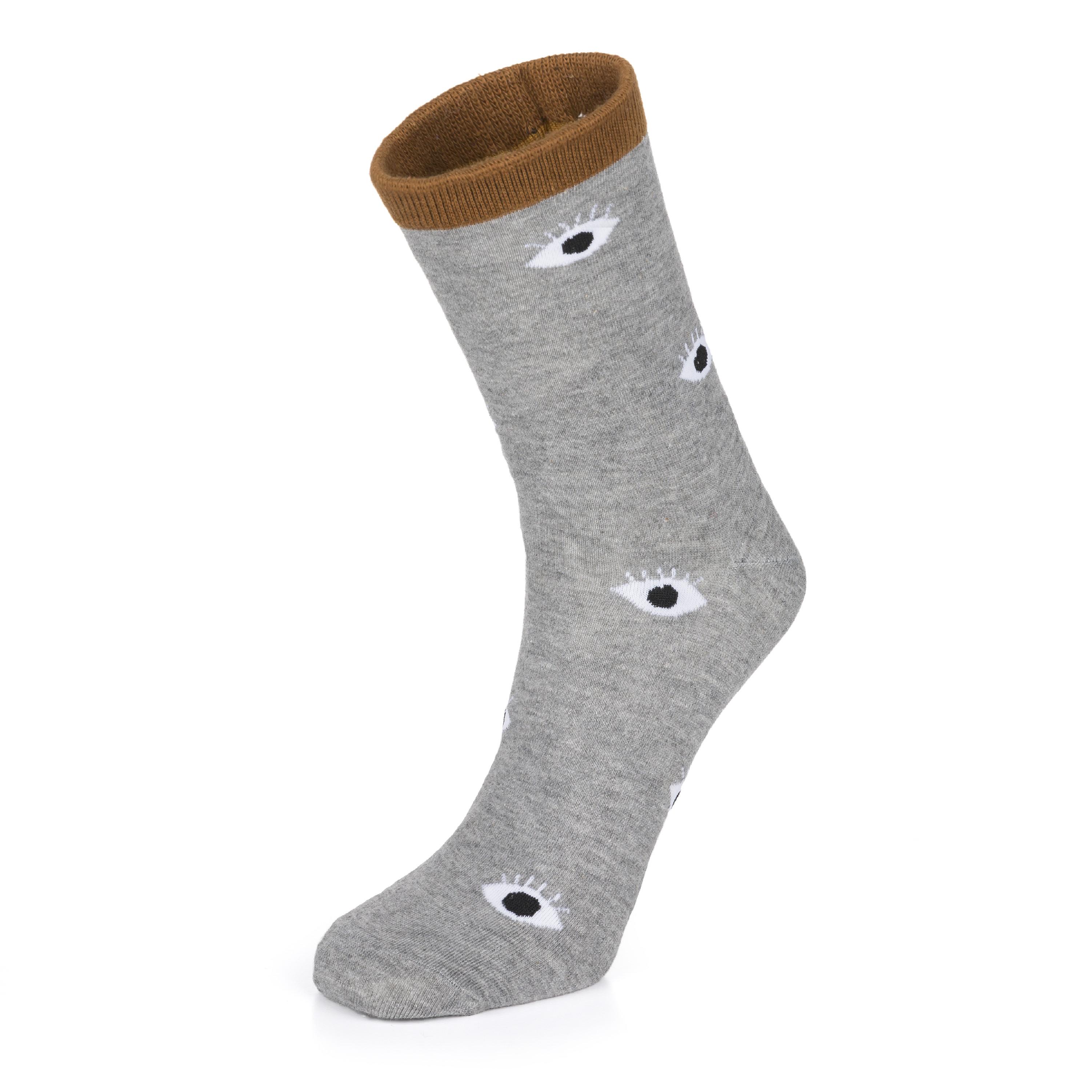 b935041bfc81 Veselé ponožky oči šedé