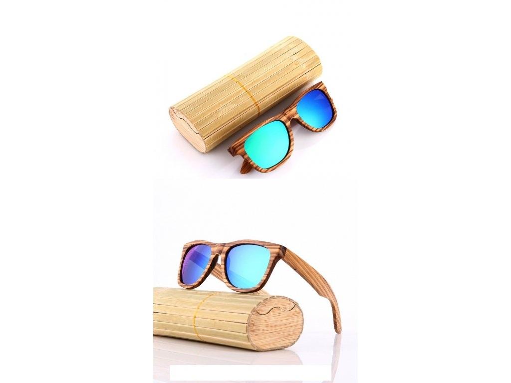 Polarizační bambusové sluneční brýle blue