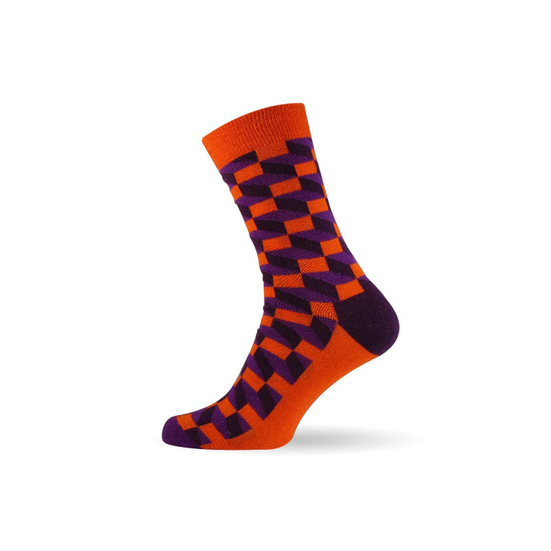 Pánské ponožky 3D orange