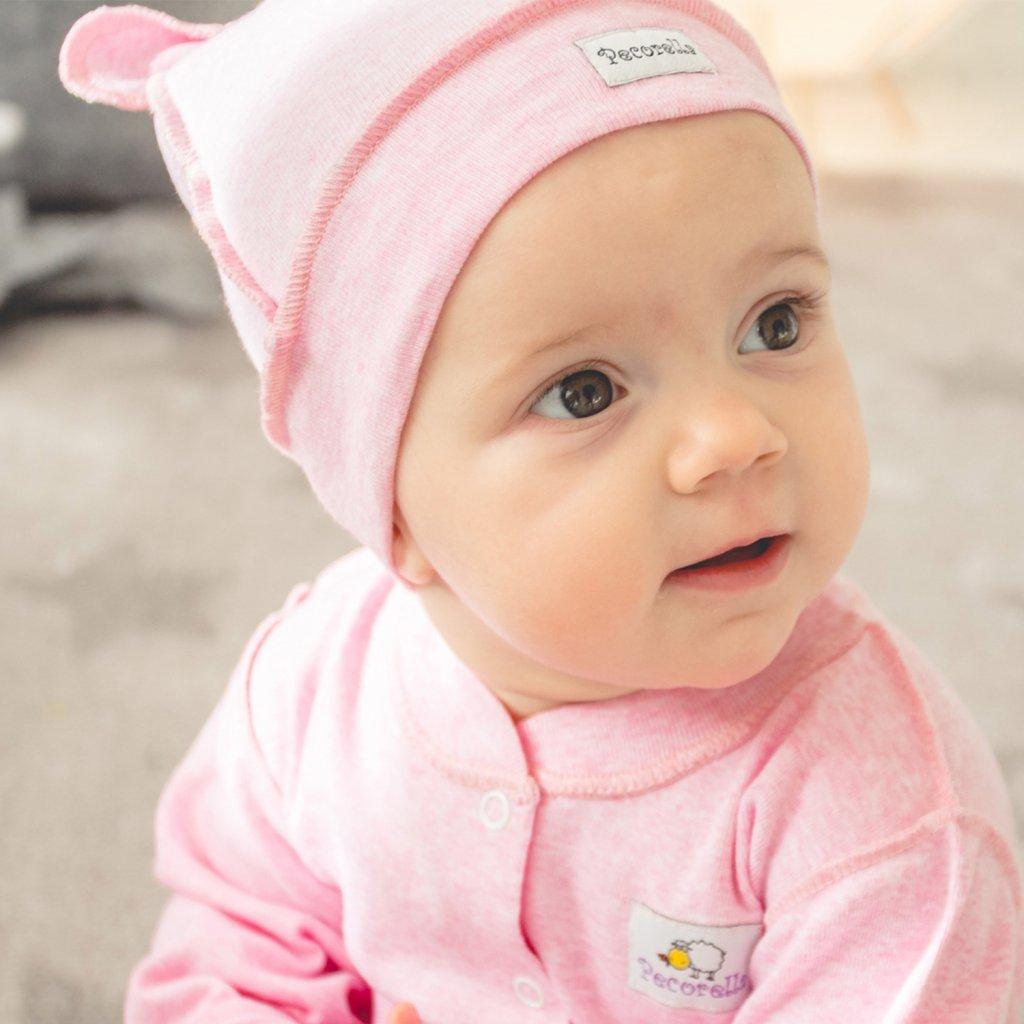 Čepička s mašlí Pecorella - růžová