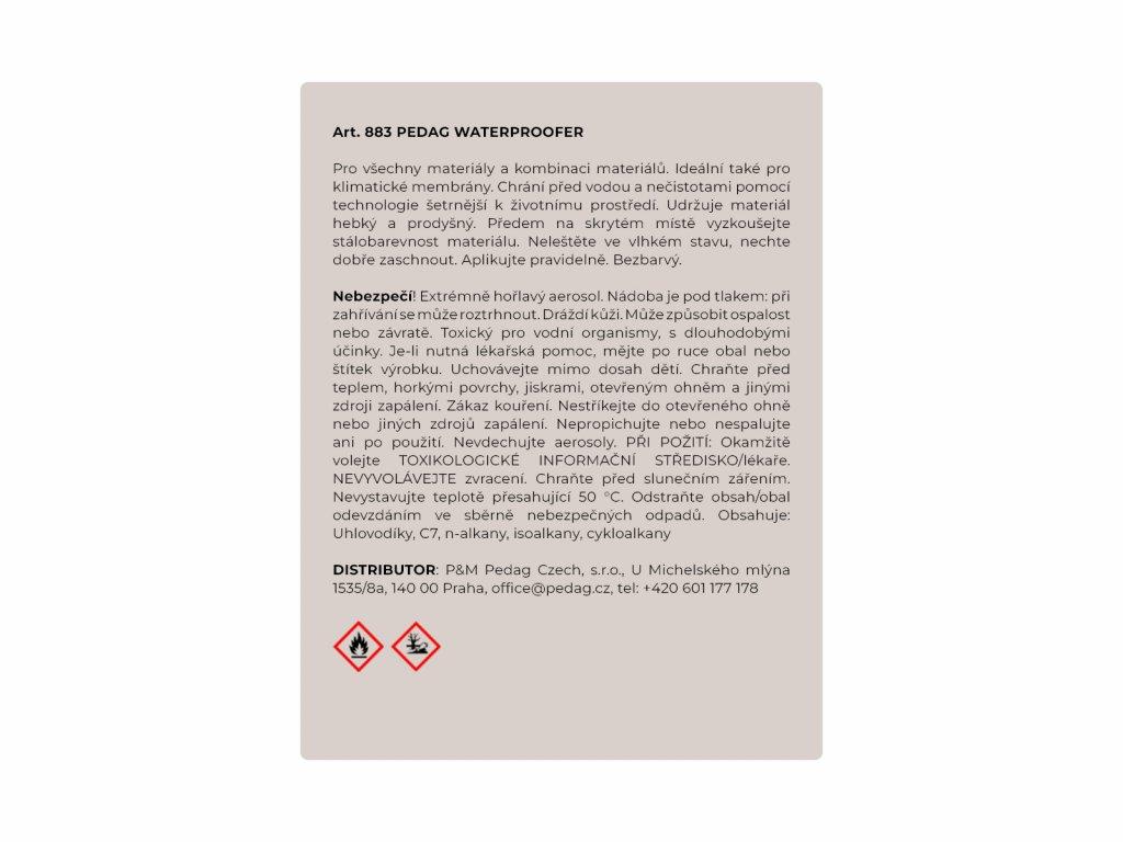 388 waterproofer impregnace na vsechny materialy krom syntetiky 400 ml