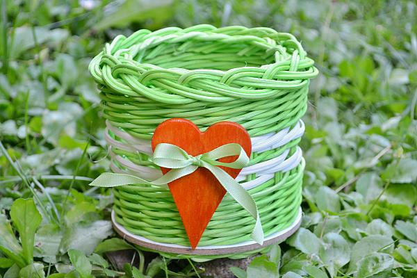Zelený pedigový košík