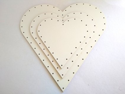 Dno HDF srdce (Rozmer 16 x 16 cm)