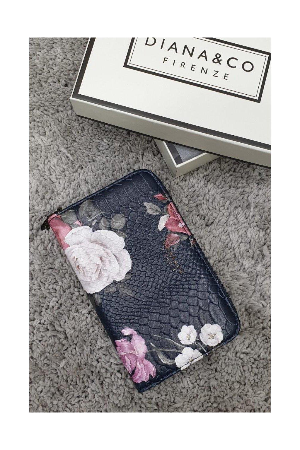 Značková peněženka Diana & co modrá