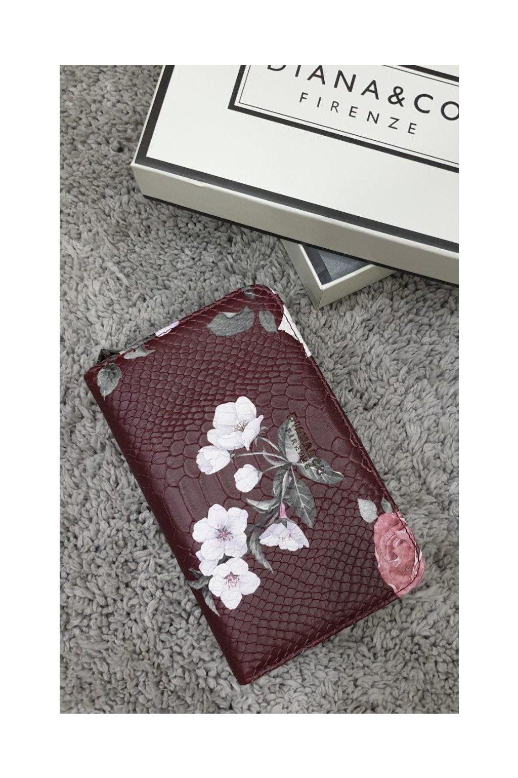 Značková peněženka Diana & co bordó