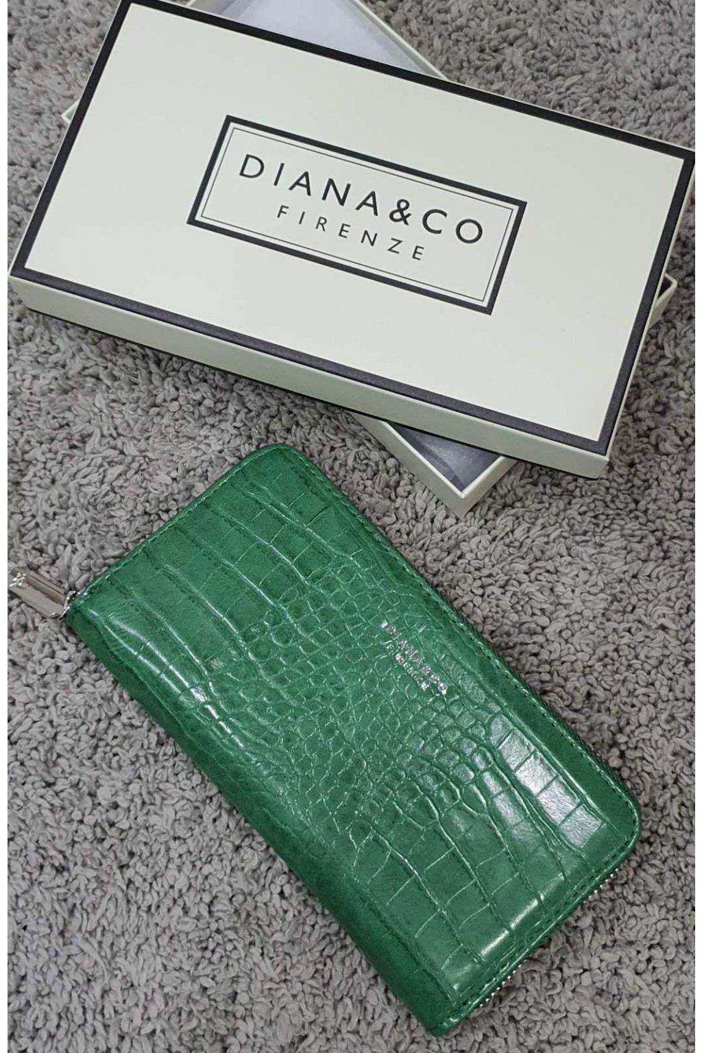 Značková peněženka Diana&co zelená