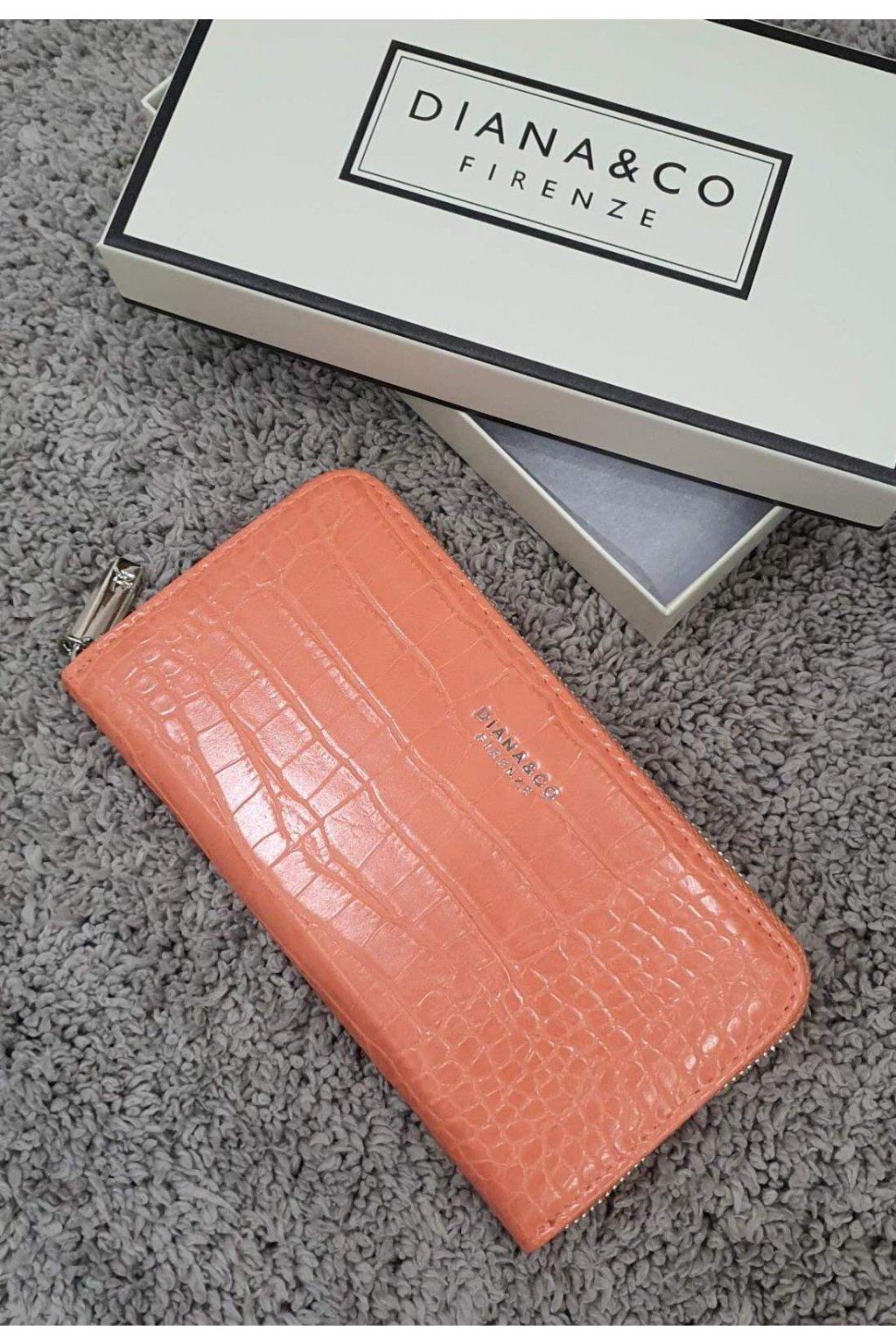 Značková peněženka Diana&co meruňková