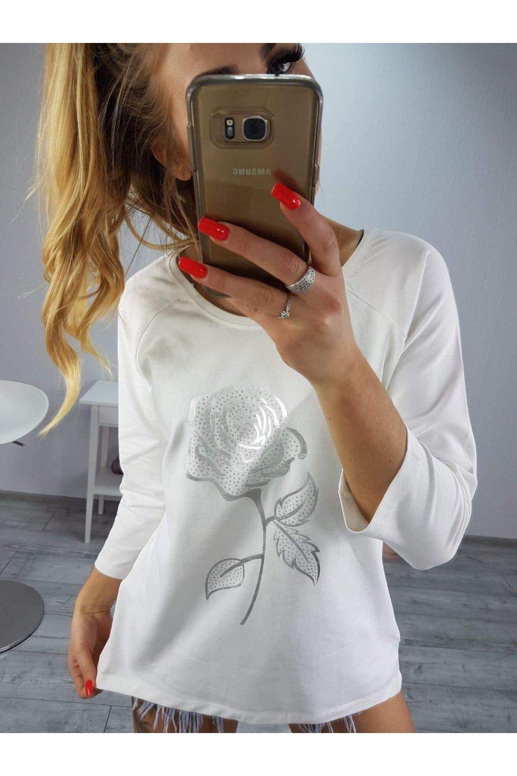 Dámské triko Flower bílé