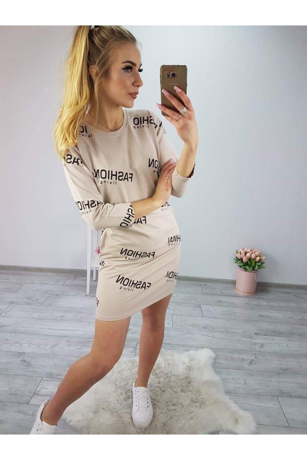 Dámské sportovní šaty Fashion béžové