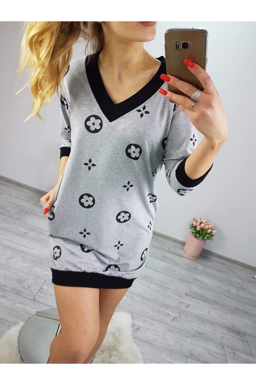 Dámské sportoní šaty Vitti šedé
