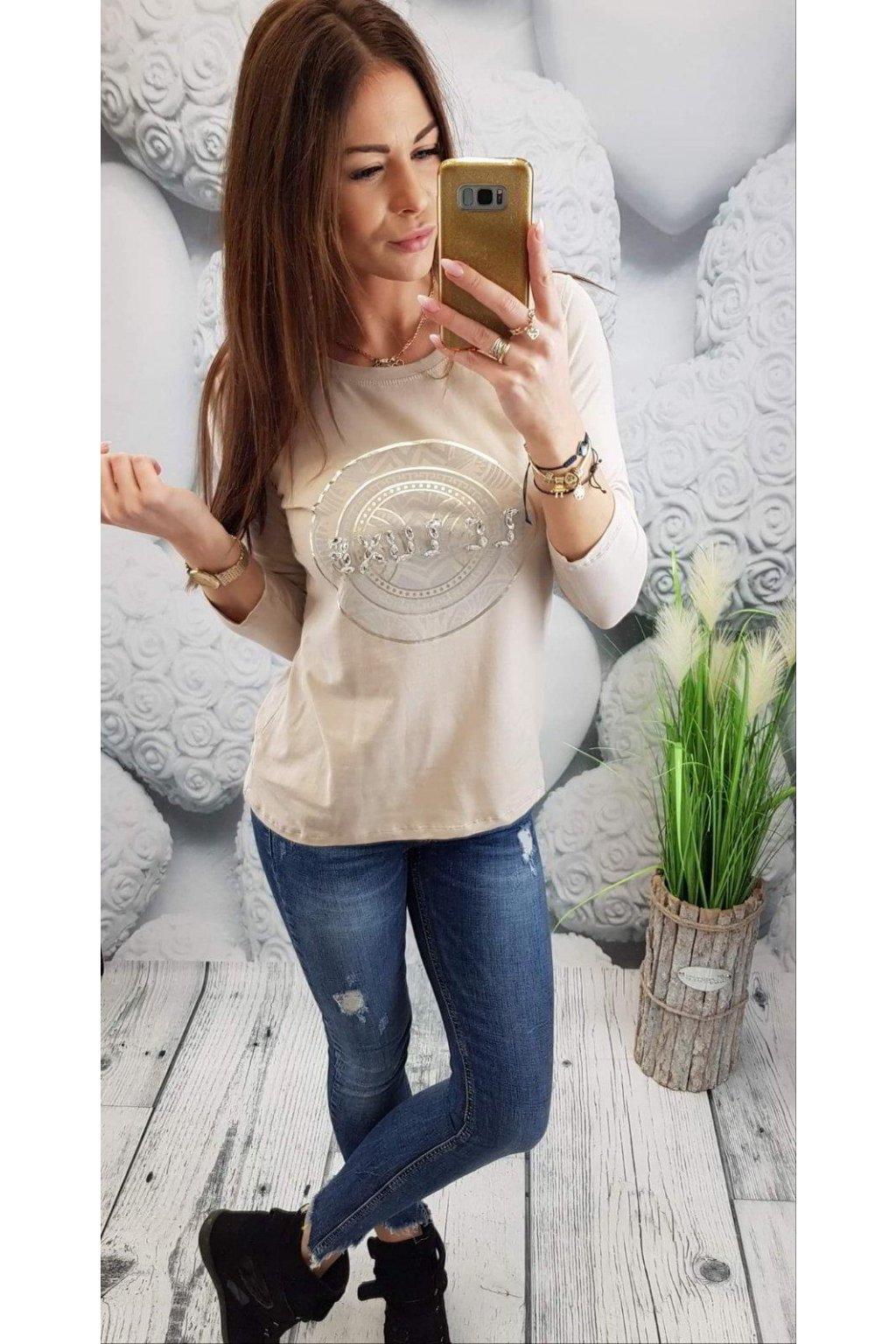 Dámské triko Luxe béžové