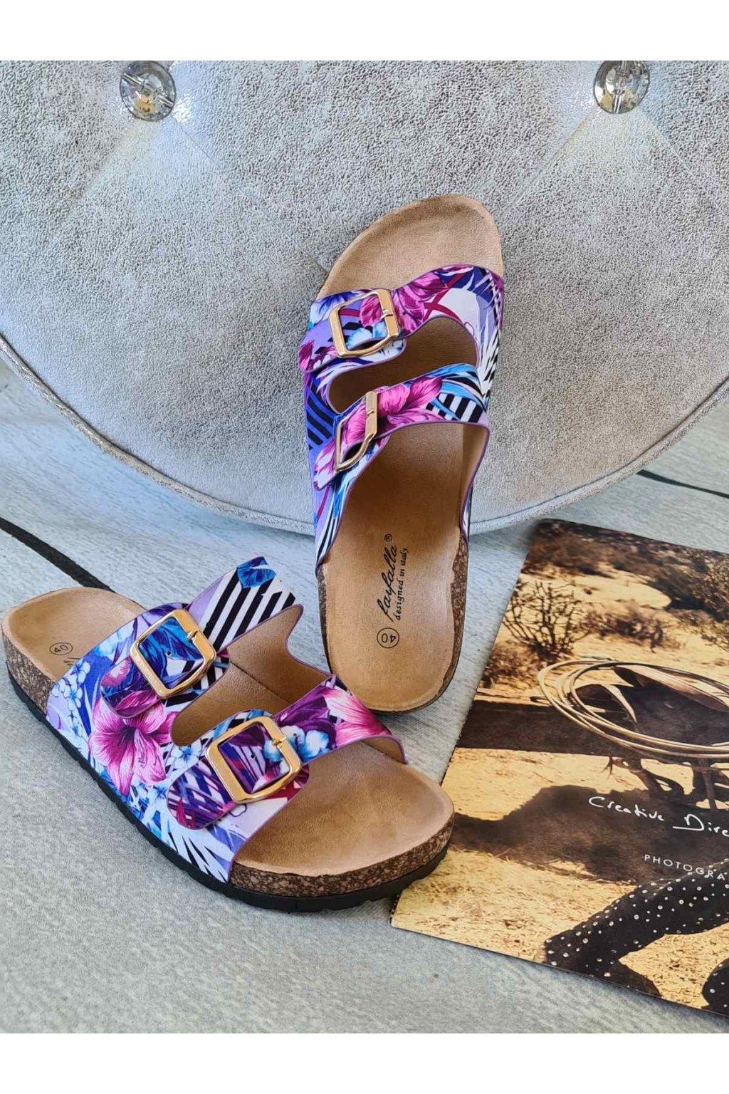 gloria pantofle korkáče fialové