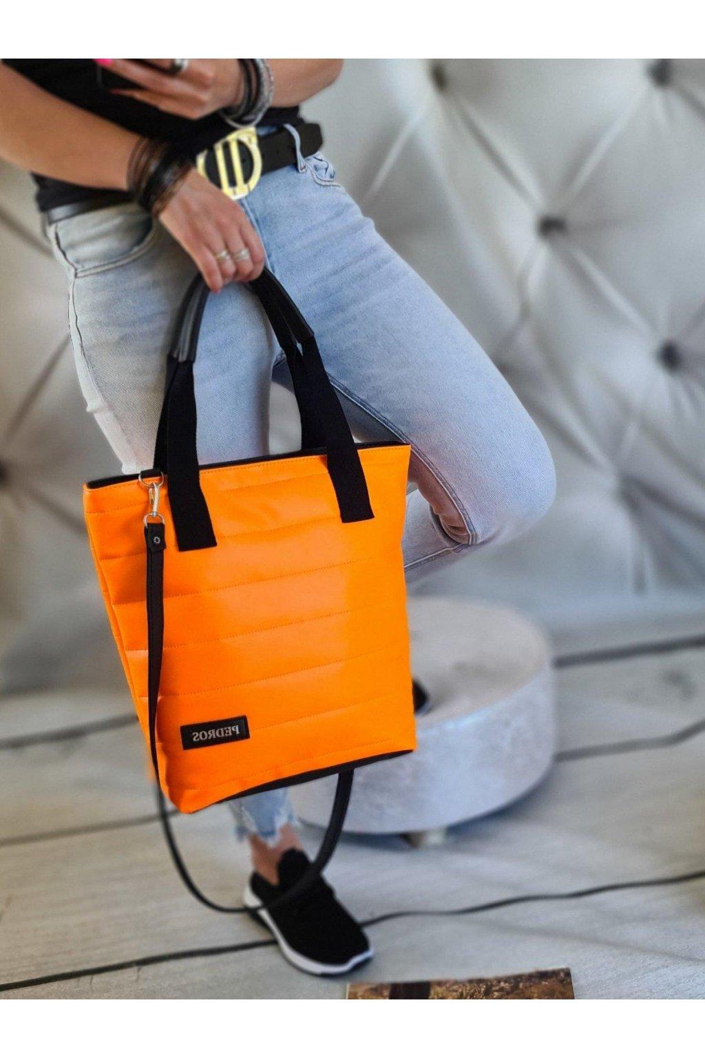 KELLYS oranž neon trendy koženková eko kůže kabelka