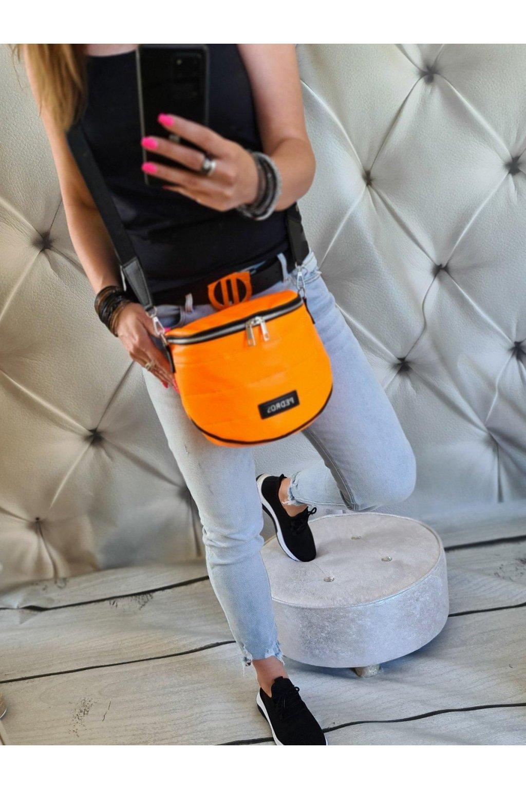 crossbody debbies oranžová neon trendy sportovní