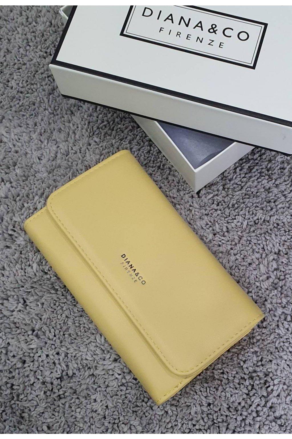 Dámská značková peněženka Diana & co žlutá