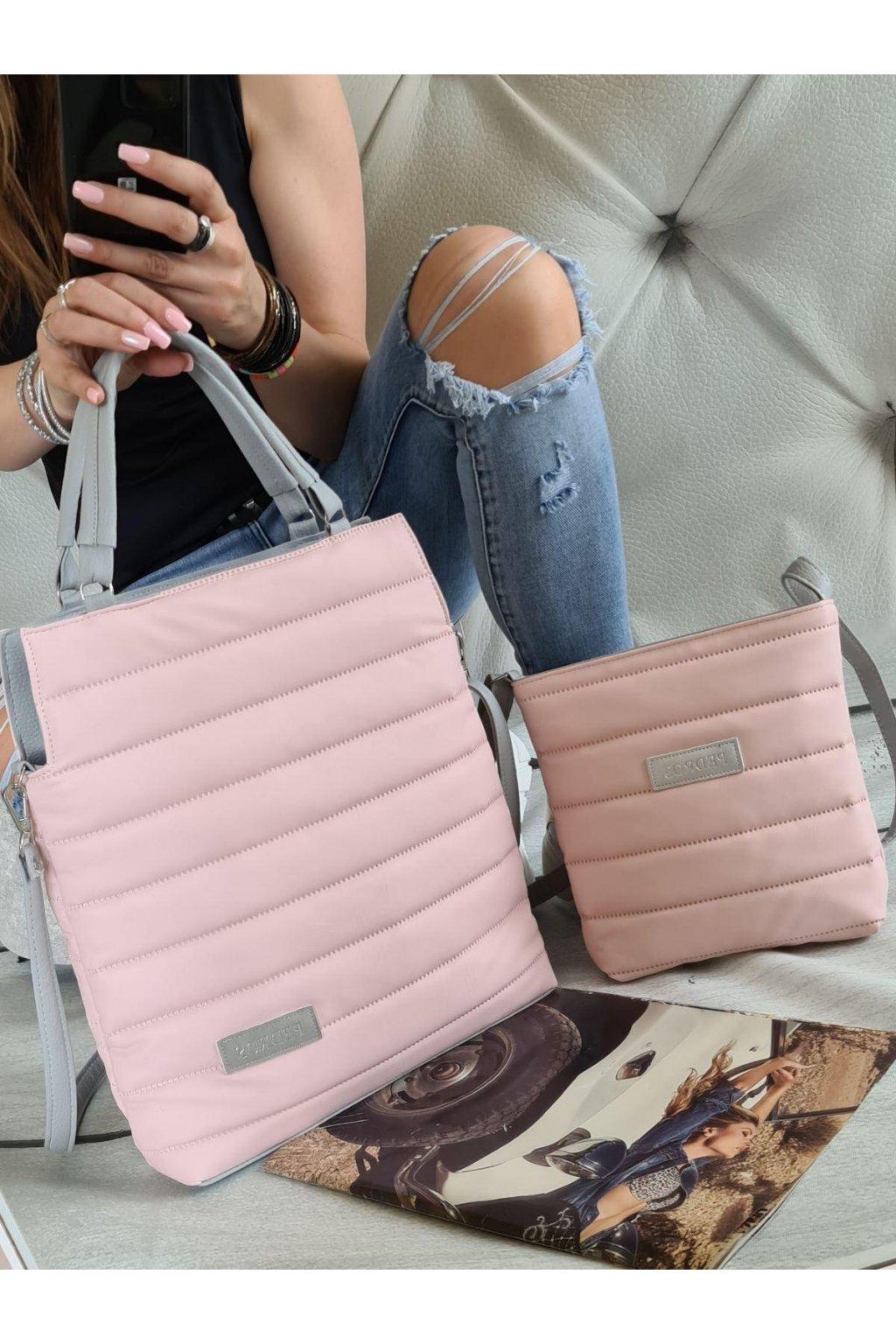 komplet kabelek v růžové barvě trendy sportovní