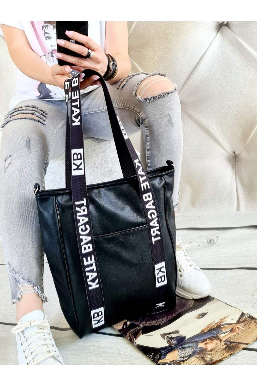 bagart černá kabelka trendy eko kůže (2)