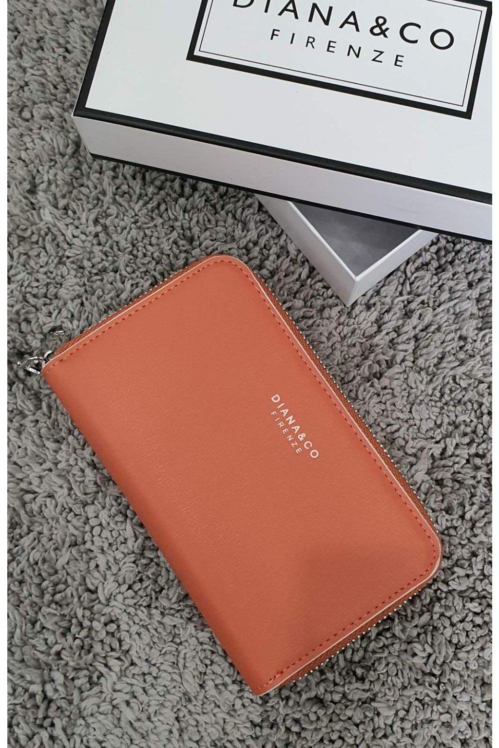 Dámská značková peněženka Diana&co oranžová