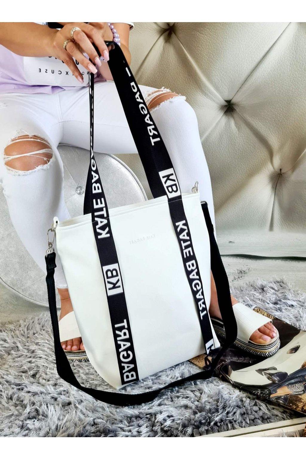 bagart kabelka trendy bílá eko kůže koženka