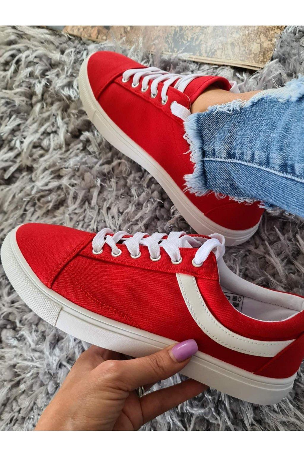 tenisky Sindy červené plátěné trendy