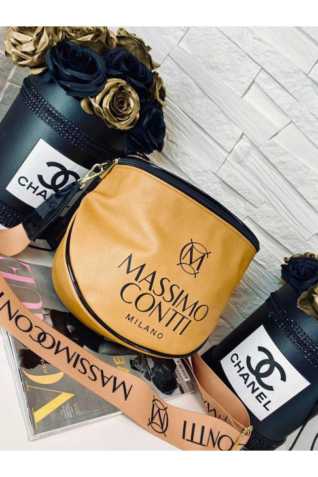 Crossbody Massimo koňak