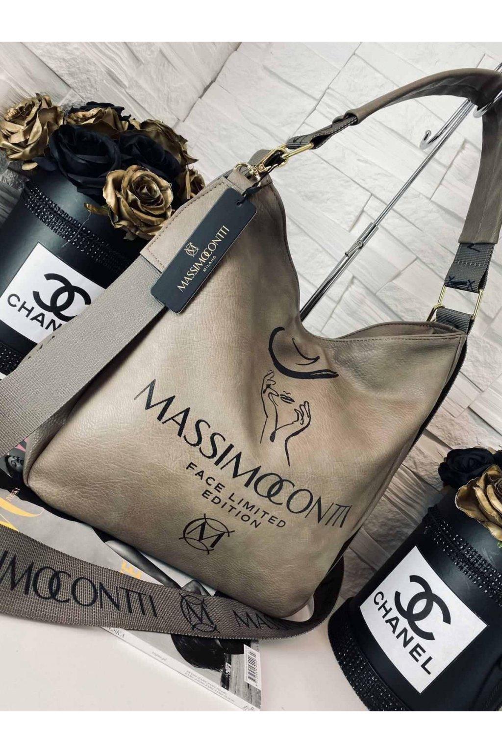 Massimo edition béžová trendy eko kůže koženka