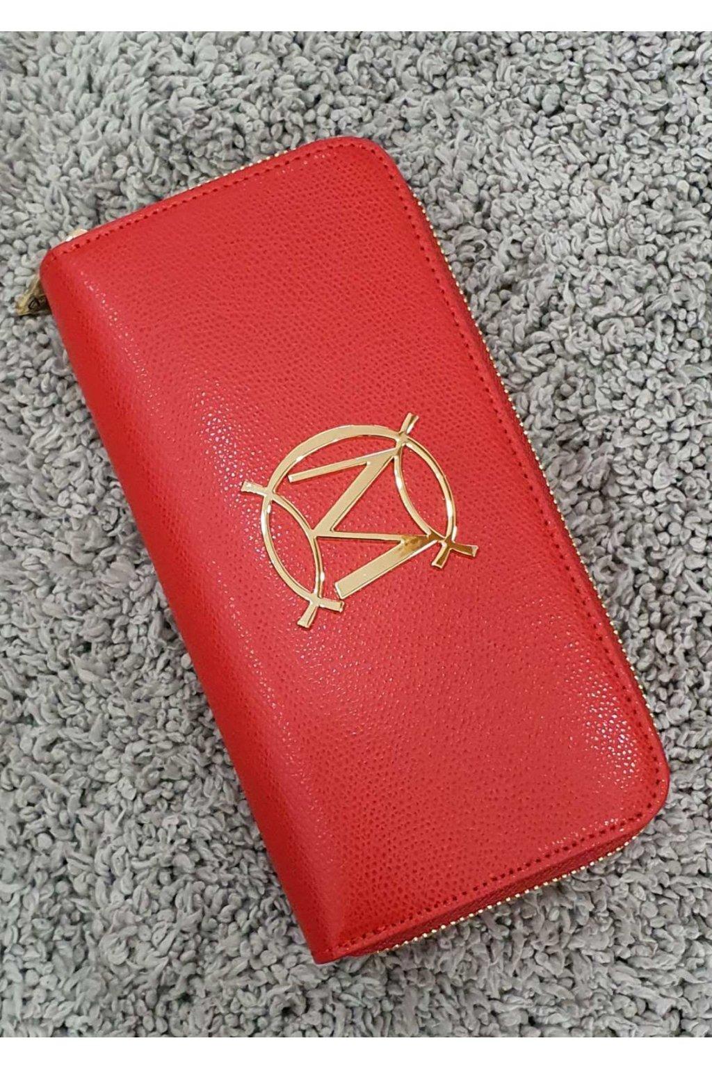 Kožená peněženka massimo červená