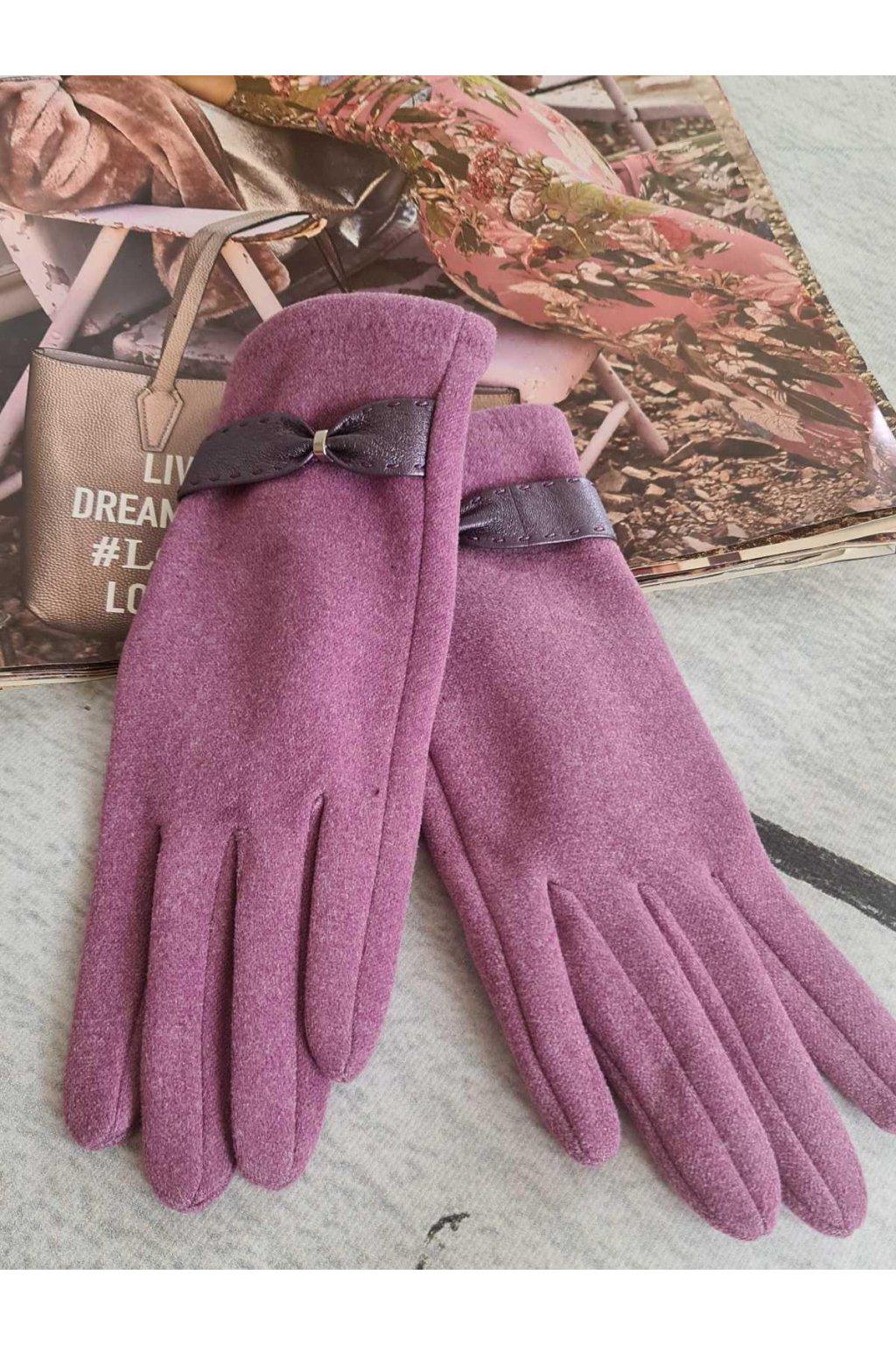 Rukavice dámské dárkové fialová