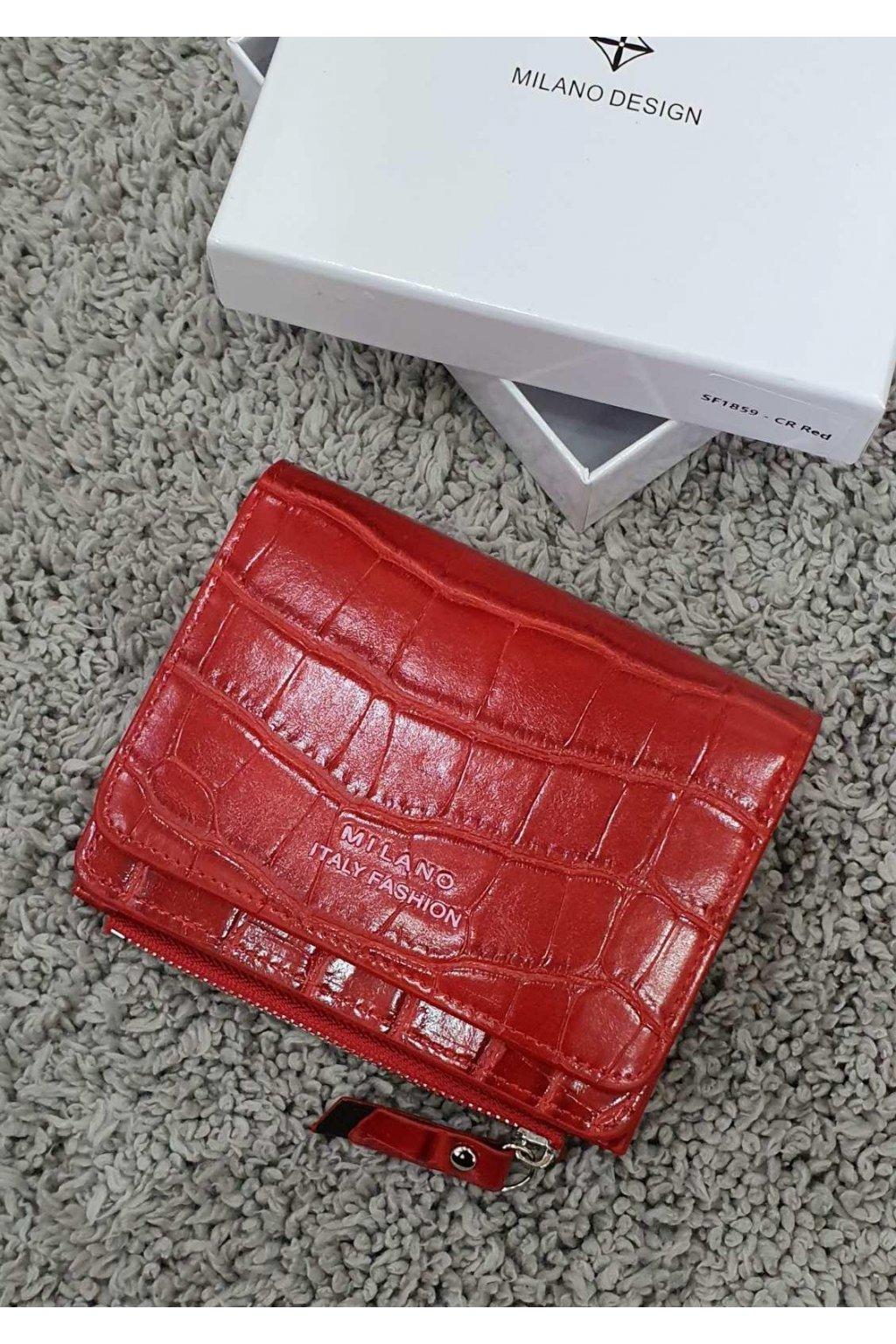 Peněženka Milano Fashion červená