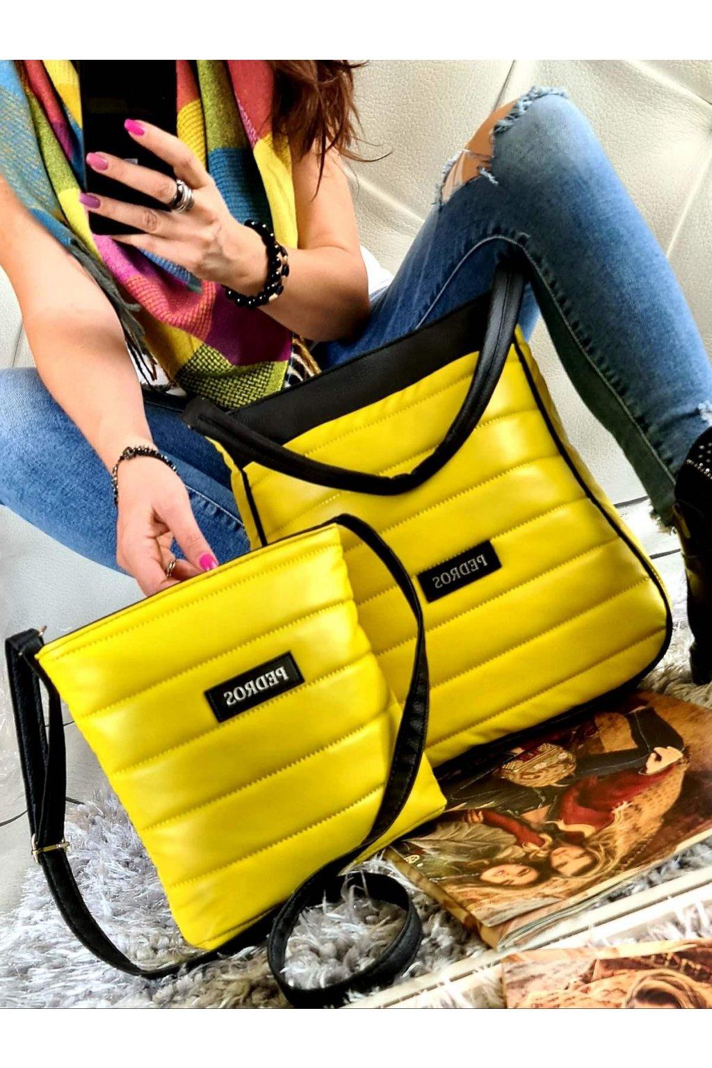 komplet kabelek pedros v žluté barvě dárkový set