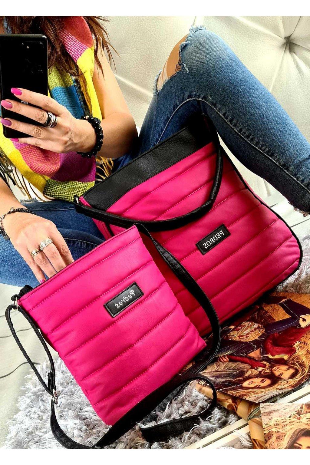 komplet kabelek pedros v růžové barvě dárkový set