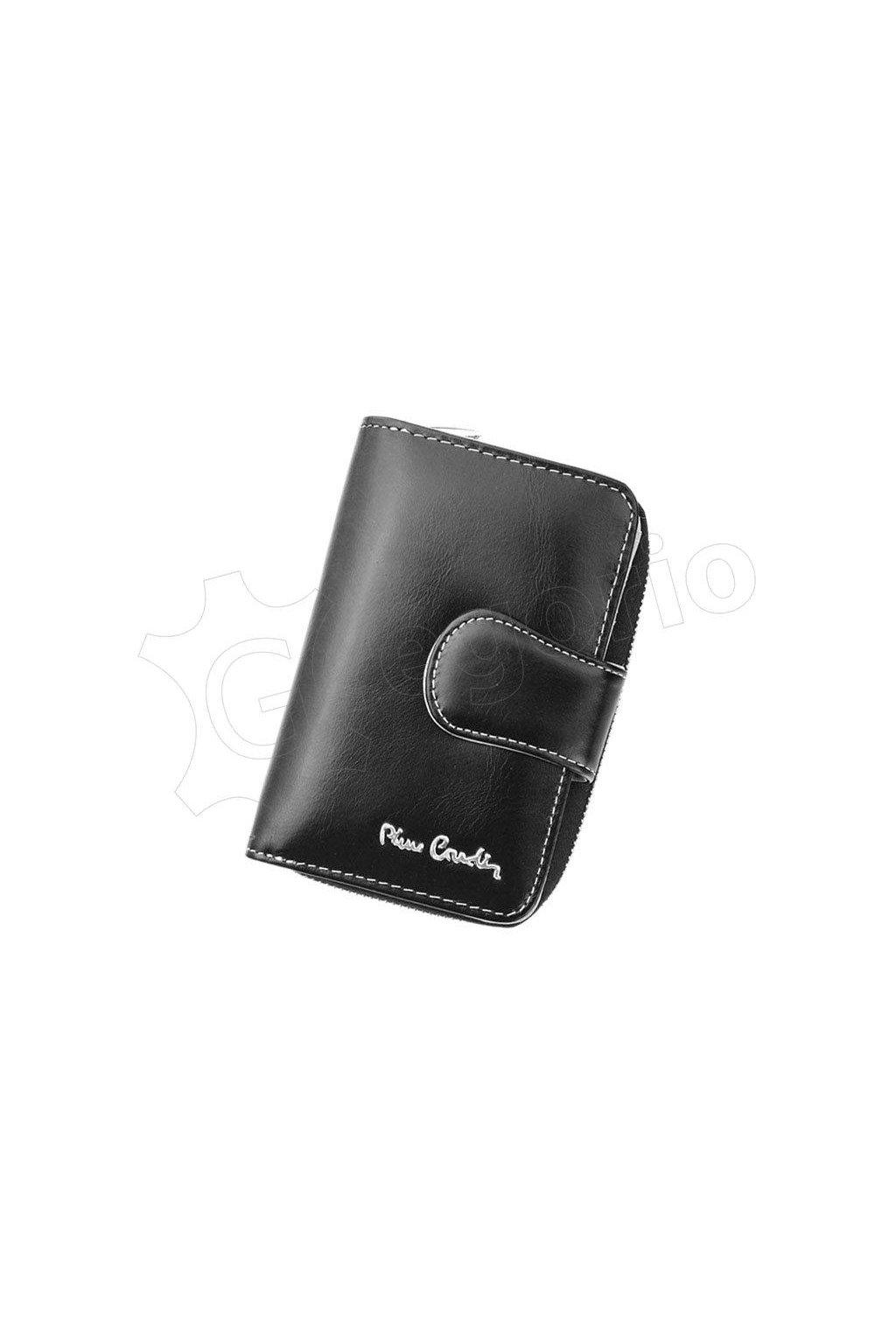 Dámská značková kožená peněženka Peierre Cardin černá
